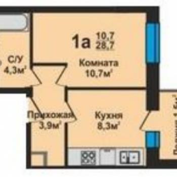 ЖК Эталон (Владимир) – планировка №3