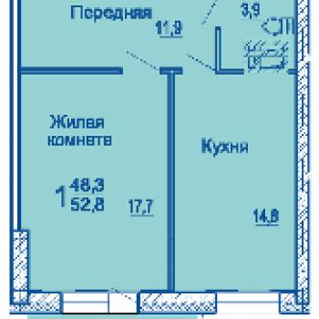 ЖК по ул. Сабанеева (Владивосток) – планировка №2