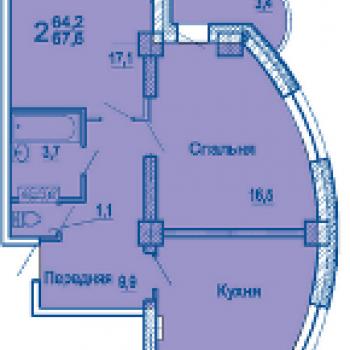 ЖК по ул. Сабанеева (Владивосток) – планировка №1