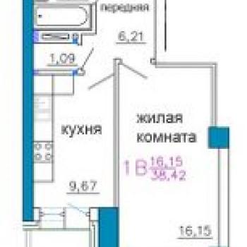 ЖК Золотой рог (Владивосток) – планировка №1