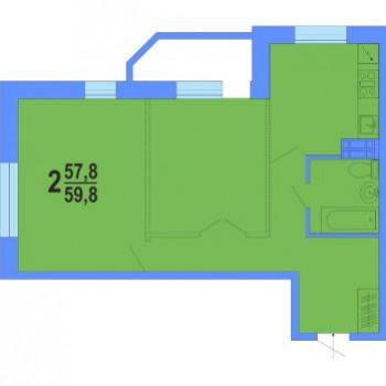 ЖК Академический (Владивосток) – планировка №3