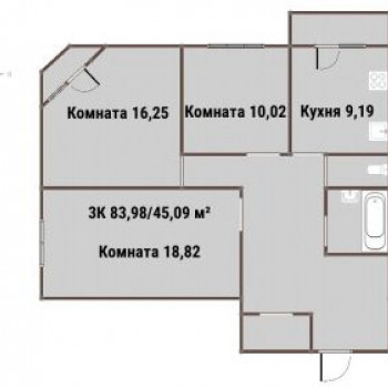 ЖК ВАРЯГ-ЦЕНТР (Владивосток) – планировка №4