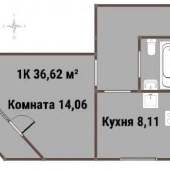 ЖК ВАРЯГ-ЦЕНТР (Владивосток) – планировка №3