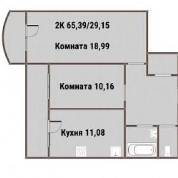 ЖК ВАРЯГ-ЦЕНТР (Владивосток) – планировка №2