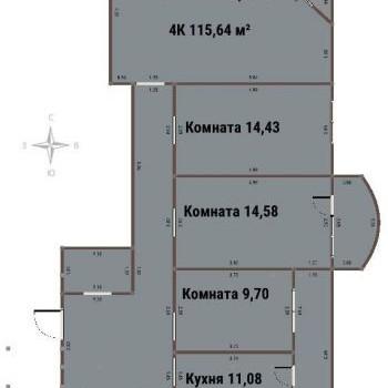 ЖК ВАРЯГ-ЦЕНТР (Владивосток) – планировка №1