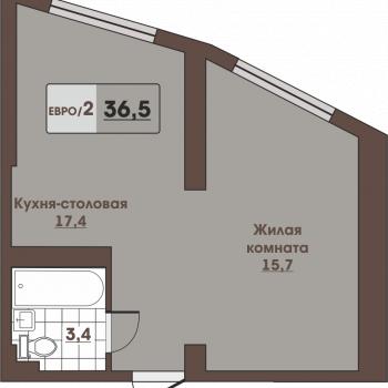 ЖК Вертикаль (Владивосток) – планировка №4