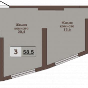 ЖК Вертикаль (Владивосток) – планировка №3