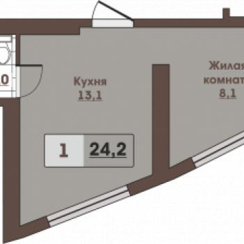 ЖК Вертикаль (Владивосток) – планировка №5