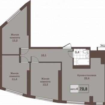 ЖК Вертикаль (Владивосток) – планировка №2