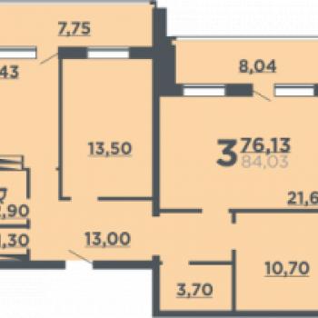 Жилой дом на ул. 8-й Воздушной армии (Волгоград) – планировка №5