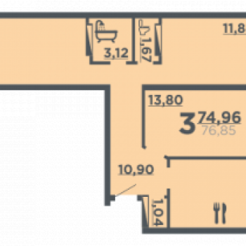 Жилой дом на ул. 8-й Воздушной армии (Волгоград) – планировка №6