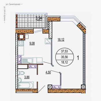 ЖК Колизей (Волгоград) – планировка №4