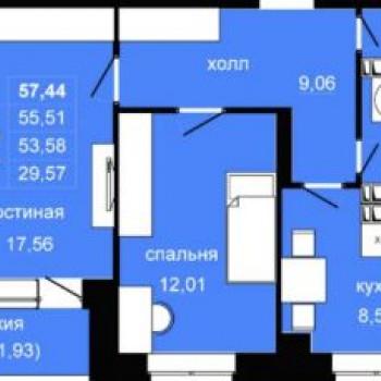 ЖК ДОСААФ (Волгоград) – планировка №1