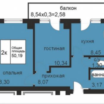 ЖК Площадь Труда 2 (Волгоград) – планировка №3