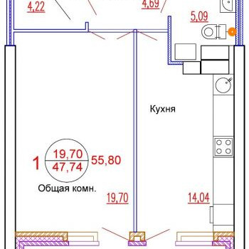ЖК Гала Парк (Волгоград) – планировка №3