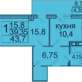 ЖК Лазурь (Волгоград) – планировка №5