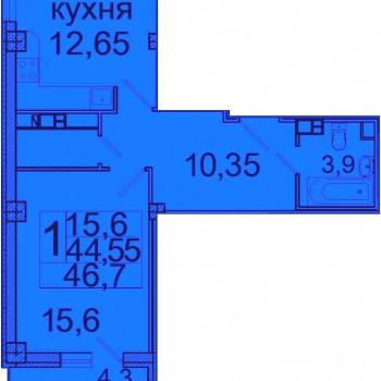ЖК Лазурь (Волгоград) – планировка №4