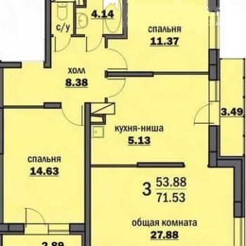 ЖК Парк Европейский (Волгоград) – планировка №1