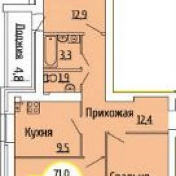 ЖК Квартет (Волгоград) – планировка №2