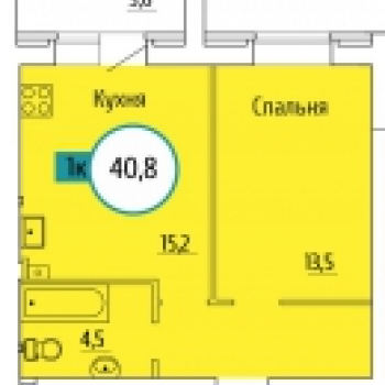 ЖК Квартет (Волгоград) – планировка №1
