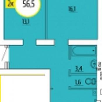 ЖК Квартет (Волгоград) – планировка №3
