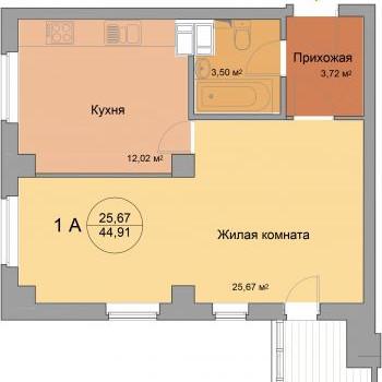 ЖК 40 домиков (Волгоград) – планировка №3