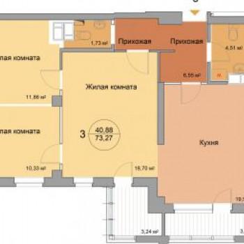 ЖК 40 домиков (Волгоград) – планировка №1
