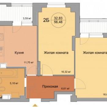 ЖК 40 домиков (Волгоград) – планировка №2