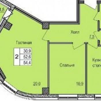 ЖК Роза Ветров (Волгоград) – планировка №2