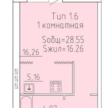 ЖК Уютный (Волгоград) – планировка №2