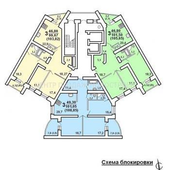 ЖК Кристалл (Вологда) – планировка №6