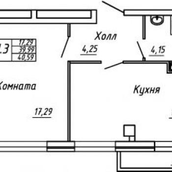 ЖК Парк Мира (Вологда) – планировка №2