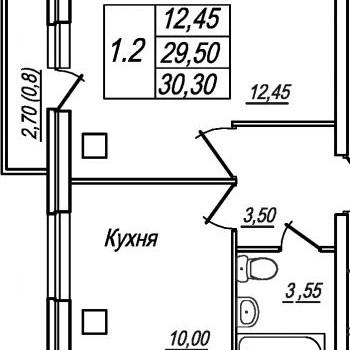 ЖК Березовая роща (Вологда) – планировка №1
