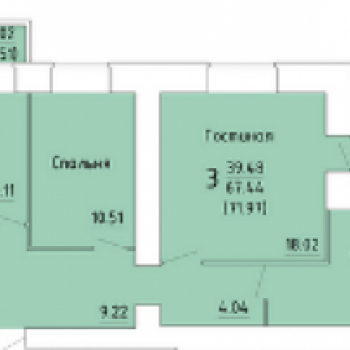 ЖК Зеленый город (Вологда) – планировка №2