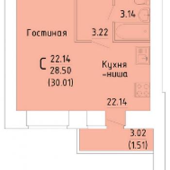 ЖК Зеленый город (Вологда) – планировка №1