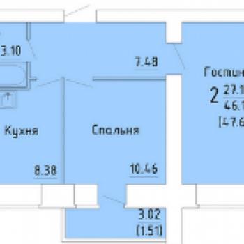 ЖК Зеленый город (Вологда) – планировка №3