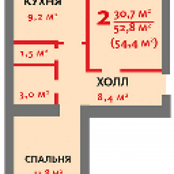 ЖК Трамвай желаний (Воронеж) – планировка №2