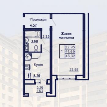ЖК Адмирал (Воронеж) – планировка №7