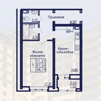 ЖК Адмирал (Воронеж) – планировка №5