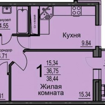 ЖК Берег (Воронеж) – планировка №2