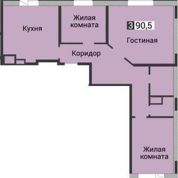 ЖК Янтарный (Воронеж) – планировка №4