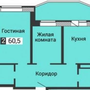 ЖК Янтарный (Воронеж) – планировка №1