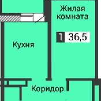 ЖК Янтарный (Воронеж) – планировка №2