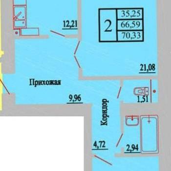 ЖК Зеленая долина (Воронеж) – планировка №1