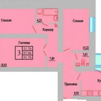 ЖК Зеленая долина (Воронеж) – планировка №3