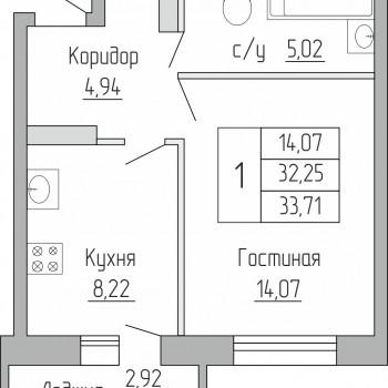 ЖК Пароход (Воронеж) – планировка №1