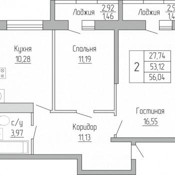ЖК Пароход (Воронеж) – планировка №6