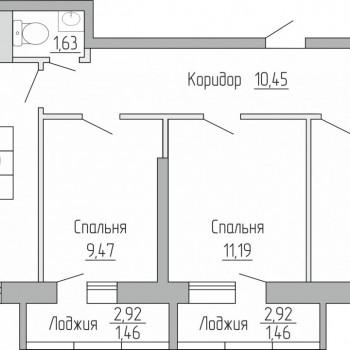 ЖК Пароход (Воронеж) – планировка №4