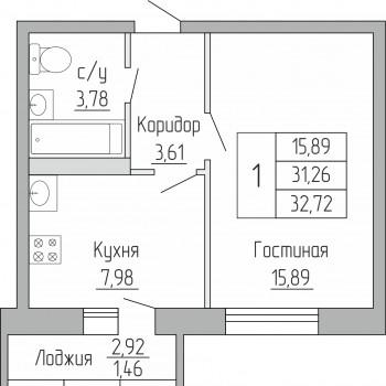 ЖК Пароход (Воронеж) – планировка №3