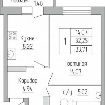ЖК Пароход (Воронеж) – планировка №2